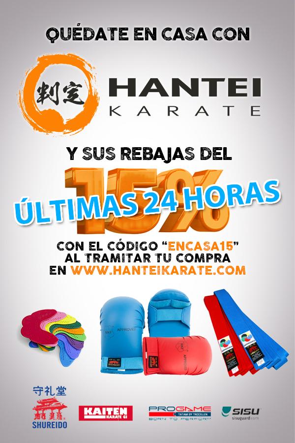 15% DESCUENTO CODIGO ENCASA15 EN WWW.HANTEIKARATE.COM